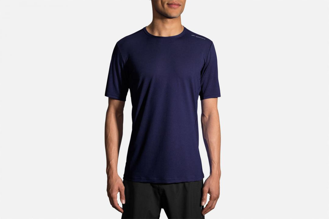Jacken und Westen | Herren Brooks Ghost Short Sleeve Bleu