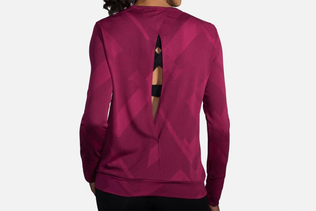 Bekleidung | Damen Brooks Array Long Sleeve Rouge