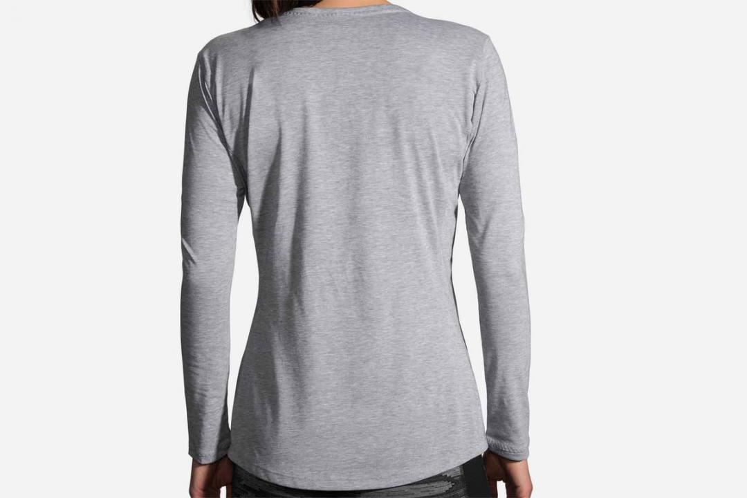Bekleidung | Damen Brooks Distance Long Sleeve Gris