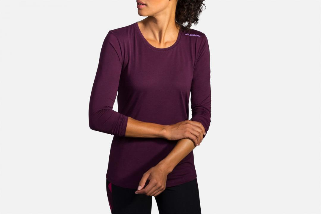 Bekleidung | Damen Brooks Distance Long Sleeve Violet