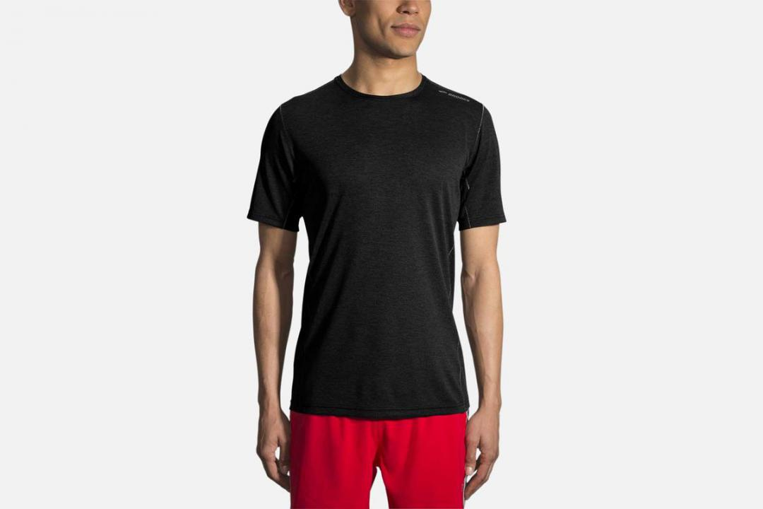 Jacken und Westen | Herren Brooks Ghost Short Sleeve Noir