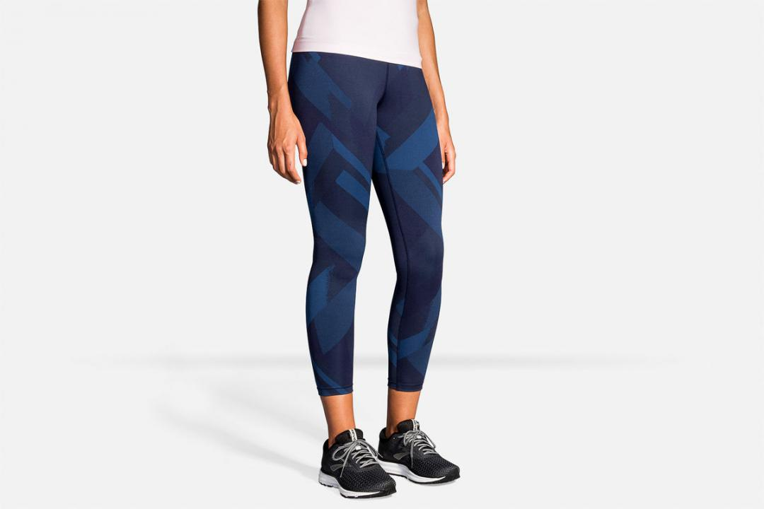 Laufhosen | Damen Brooks Formation Crop Bleu