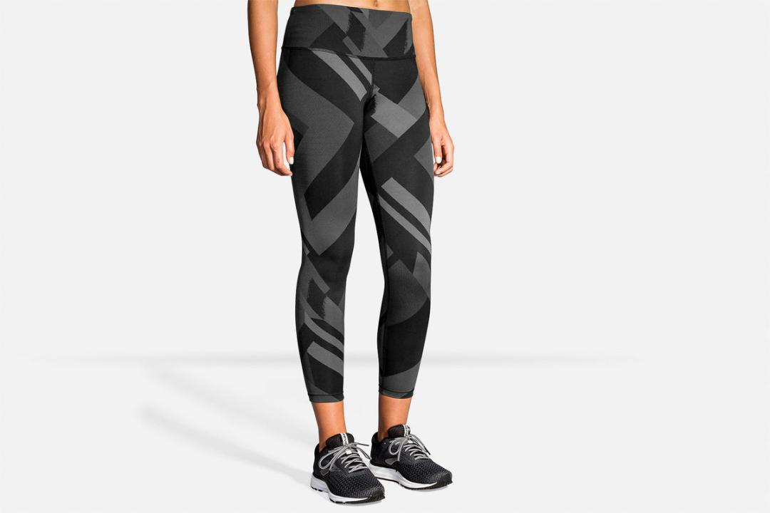 Laufhosen | Damen Brooks Formation Crop Gris