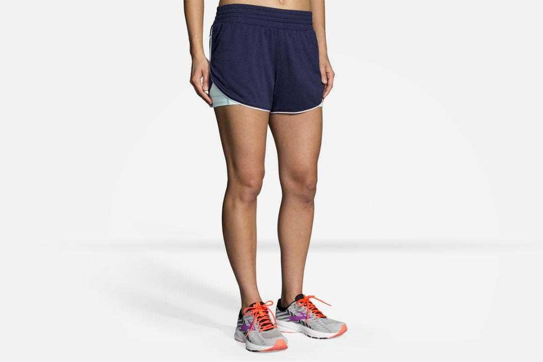 Laufhosen | Damen Brooks Rep 3″ 2-in-1 Short Orange