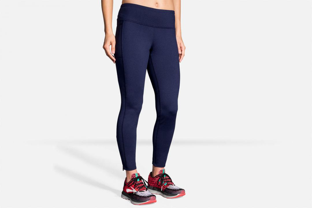 Laufhosen | Damen Brooks Threshold Tight Bleu