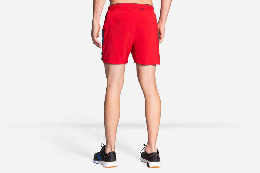 Laufhosen | Herren Brooks Sherpa 5″ Short Rouge