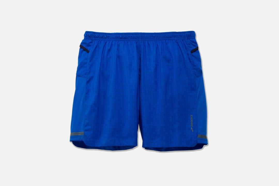 Laufhosen | Herren Brooks Sherpa 7″ 2-in-1 Short Bleu