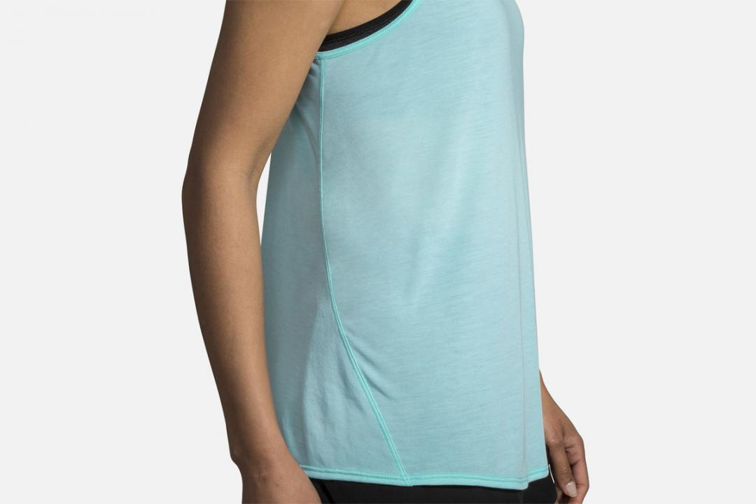Lauftops | Damen Brooks Distance Tank Bleu