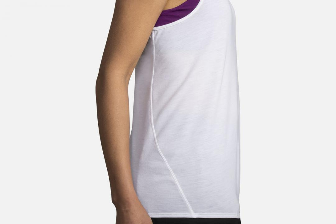 Lauftops | Damen Brooks Distance Tank Orange