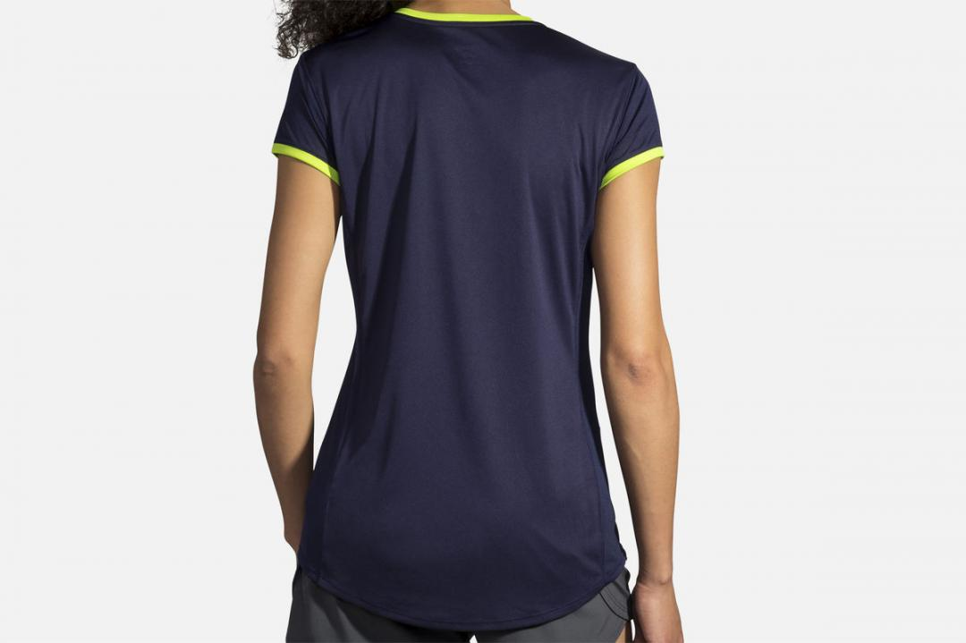 Lauftops | Damen Brooks Stealth Short Sleeve Bleu
