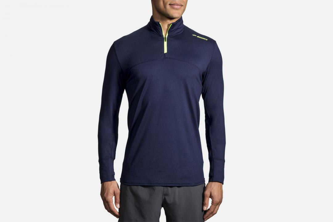 Lauftops | Herren Brooks Dash 1/2 Zip Bleu