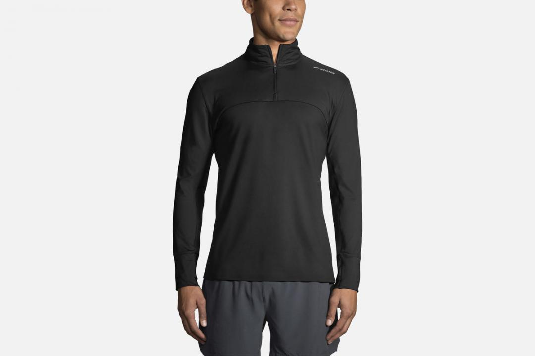Lauftops | Herren Brooks Dash 1/2 Zip Gris