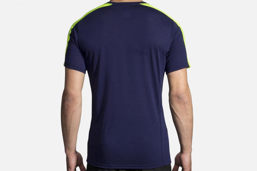 Lauftops | Herren Brooks Distance Short Sleeve Bleu