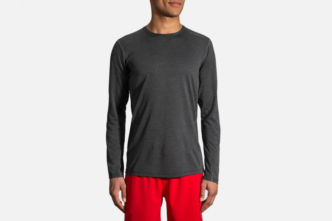 Lauftops | Herren Brooks Ghost Long Sleeve Gris