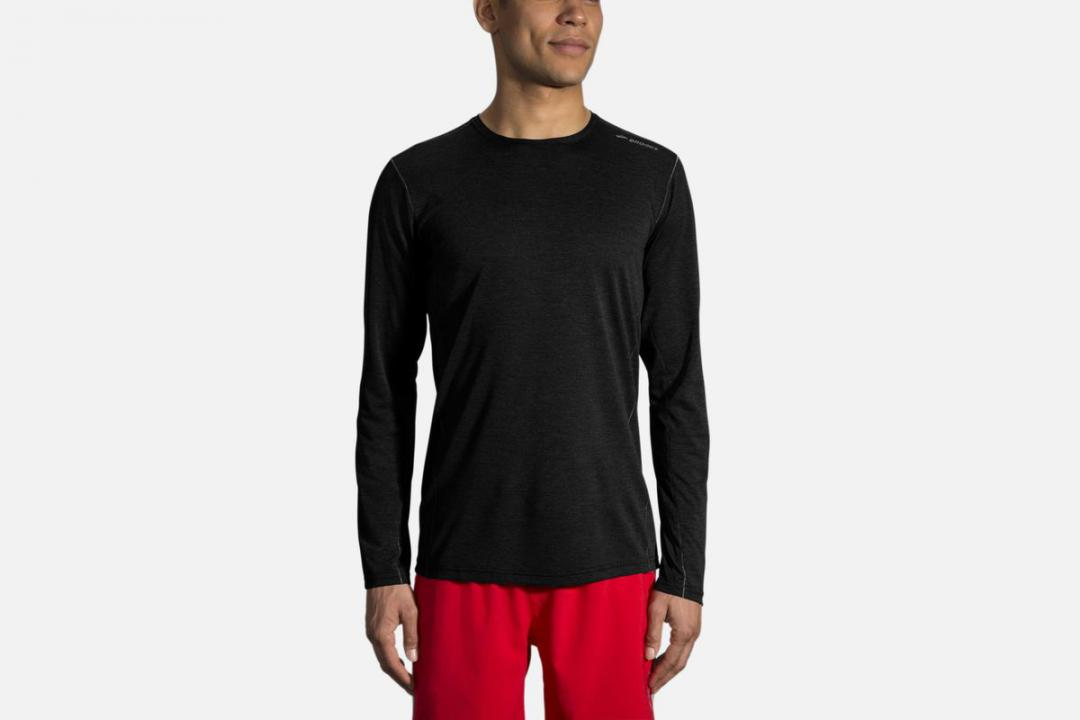 Lauftops | Herren Brooks Ghost Long Sleeve Noir