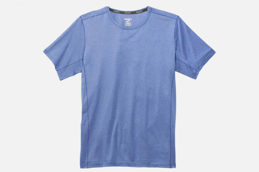Lauftops | Herren Brooks Ghost Short-Sleeve Running Shirt Bleu