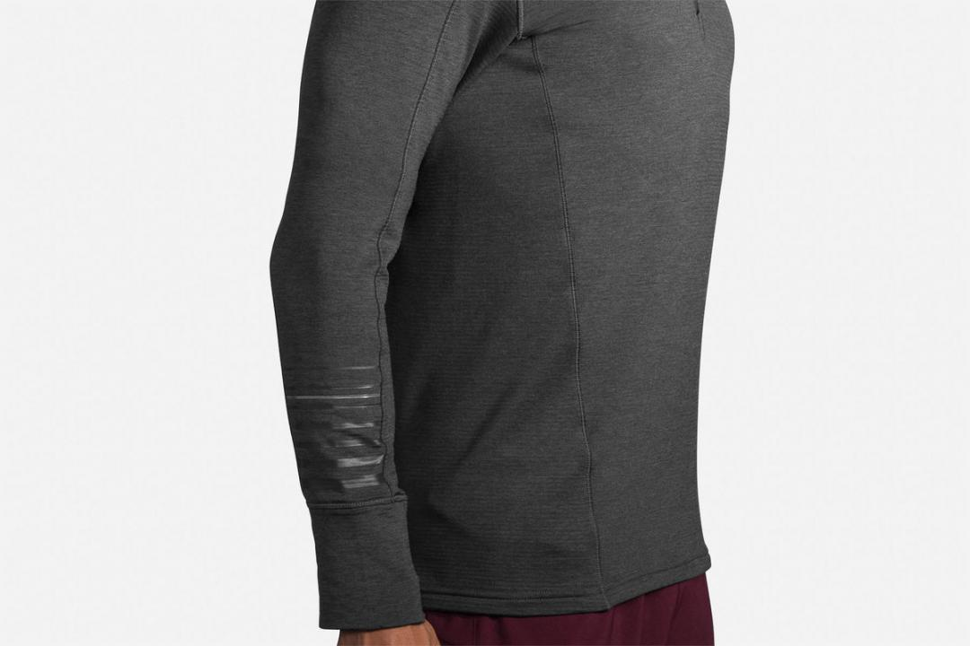 Lauftops | Herren Brooks Notch Thermal Hoodie Gris