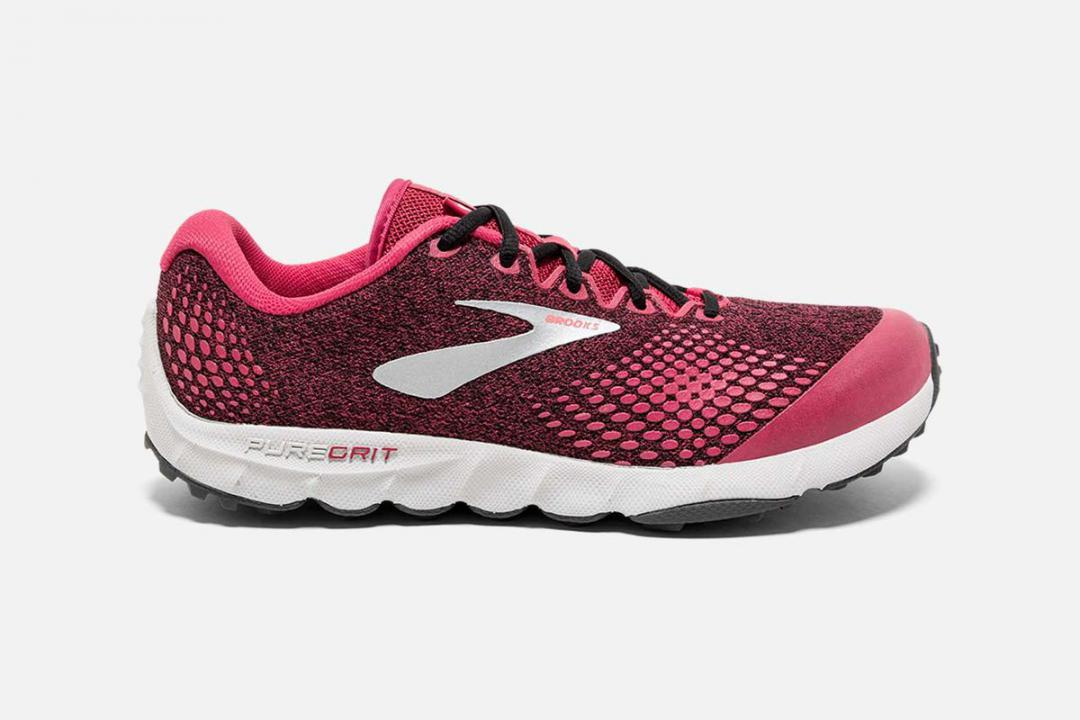 Trail | Damen Brooks PureGrit 7 Rouge